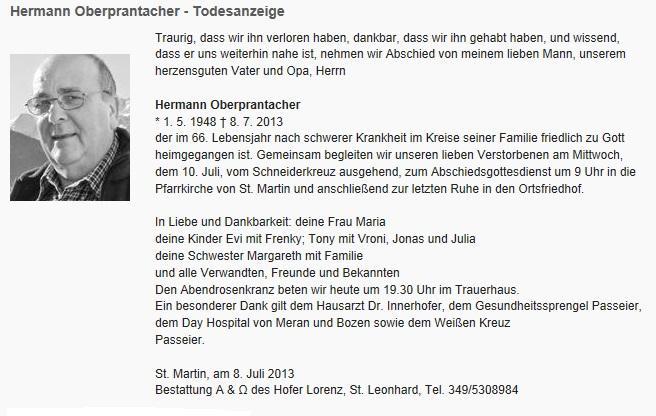 Anzeige Hermann