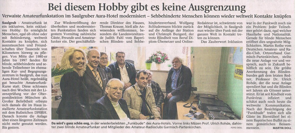 Murnauer Tagblatt 12.10.2015 Ammertal
